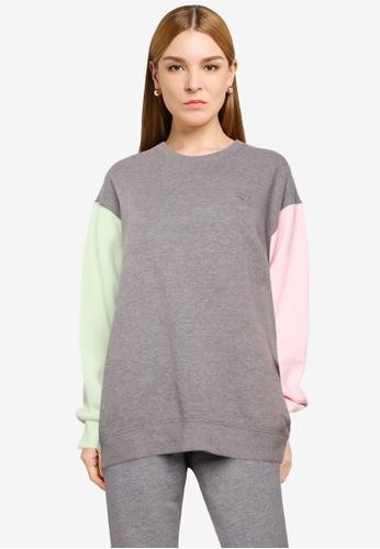 Hollister grey Colorblock Trend Crew Neck Sweatshirt D16E5AA4F22193GS_1