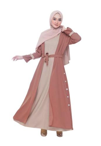 Beautika Fashion brown Ziva Dusty Muslimah Long Dress Maxi Jubah Casual Basic Simple Plain Brown Brick Terracota F3EA1AADC30383GS_1