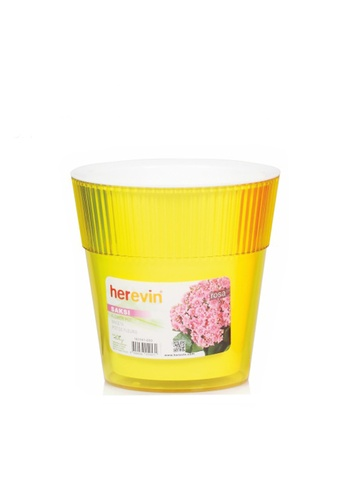 Herevin Herevin 1.55L Flower Pot / Succulent Pot / Flower Pot Stand / Flower Stand - Red / Orange / Yellow 856EDHL2420E98GS_1