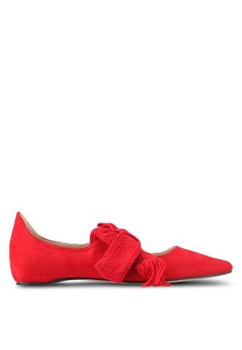 ZALORA red Bow Ballerinas FE6AFSHF979178GS_1
