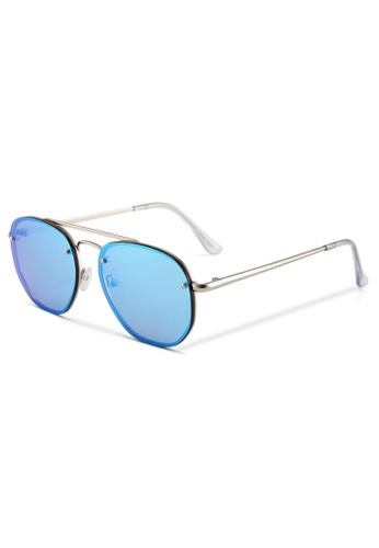Quattrocento Eyewear Quattrocento Eyewear Italian Sunglasses with Blue Lenses Model Ferrari 44B9BGLF8C92DCGS_1
