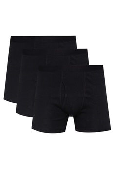 1036c98f4b MARKS & SPENCER black 3 Pack Pure Cotton Cool & Fresh™ Trunks  86475US8D62D22GS_1