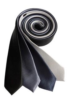 Plain Slim Necktie Combo B