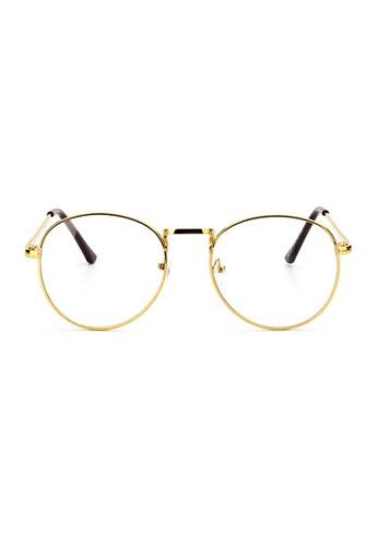 Elitrend gold Retro Metal Glasses with Gold Frame D4A2FGLC89EA7FGS_1
