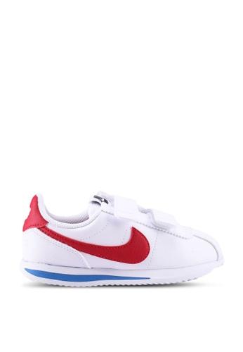 Nike white Cortez Basic Sl (Psv) 7F39CKSFB1B24DGS_1
