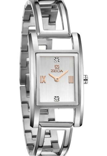 ZECA pink and silver and gold Zeca Watches Ladies Fashion Stainless Steel Analog - 146L Silver Rosegold ZE260AC38SMRSG_1