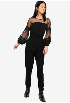 0b704793a0d Sizes 6 8 10 12 · French Connection black Paulette Jersey Jumpsuit  45290AA7F96367GS 1