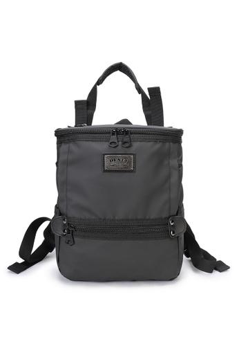 DUSTY black Twin-Bucket backpack(S) CA470ACFE84DEDGS_1