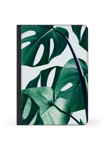 "Casetify white and green iPad Pro 12.9"" Folio Case - Swiss Montera Leafs 10620AC0DA02DEGS_1"