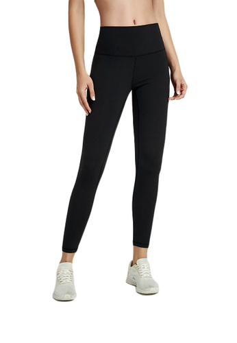 B-Code black ZWG1103a-Lady Quick Drying Running Fitness Yoga Leggings-Black D39ACAAFE30BA5GS_1