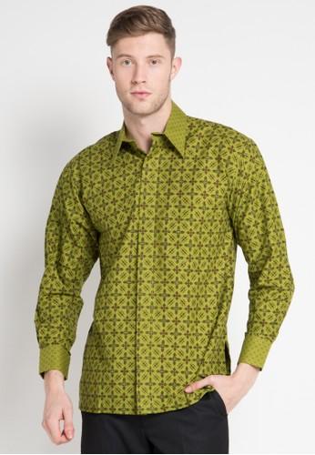 Batik Indra Loka green Long Sleeve Kelir 51AD0AA781406AGS_1