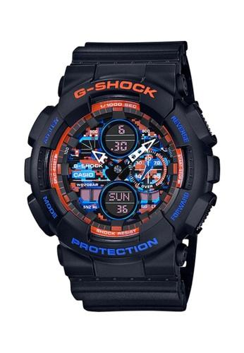 G-shock black Casio G-Shock Men's Analog-Digital GA-140CT-1ADR Black Resin Band Sport Watch 69D12AC0194096GS_1