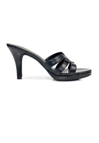 SHINE black SHINE Tribute Slip On Platform Heels Sandals B965ASHDE3D162GS_1