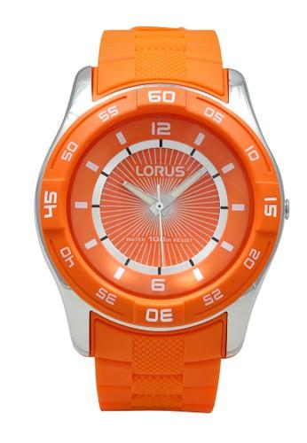 Lorus orange LORUS Jam Tangan - Orange Silver - Silicon - R2353HX9 C7EE5AC0F521A4GS_1