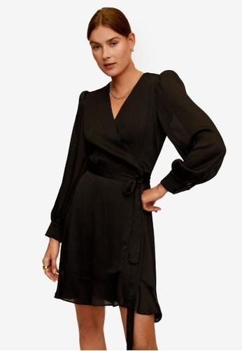 Mango black Crossed Design Dress 49B96AA906E2DBGS_1