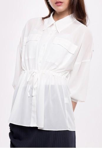 Anyday & More white SHEER SHIRT Broken White B9B46AA2C241B3GS_1