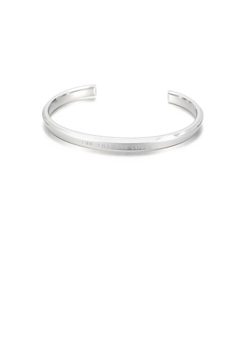 Glamorousky silver Fashion and Simple Geometric Round 316L Stainless Steel Open Bangle C54B0AC59F43E4GS_1