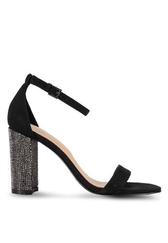 ALDO black Okraina Open Toe Ankle Strap Block Heels FDD71SH8EE1AF7GS_1