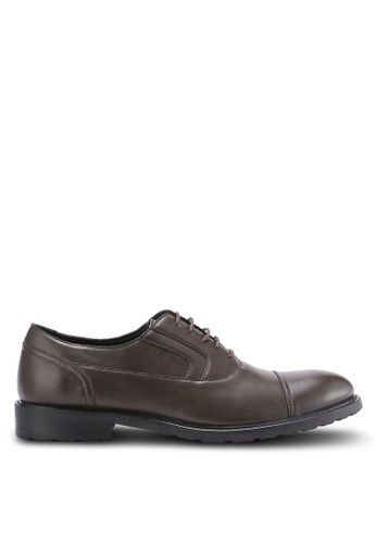 ZALORA brown Faux Leather Business Dress Shoes 62B3DAA52CADE1GS_1