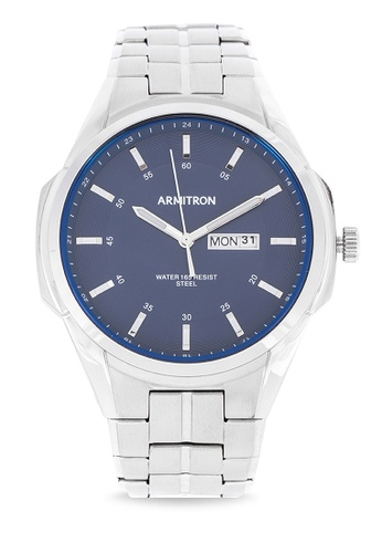 Armitron silver Men's Analog Watch 20/5391NVSV 822CFAC7E84D95GS_1