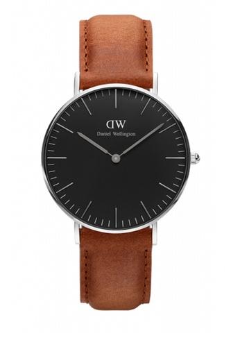 Daniel Wellington silver and brown Classic Black Durham Watch 36mm DA376AC71NBWMY_1