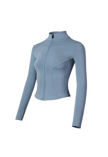 VIVIESTA SPORT blue Flattering Everyday Turtleneck Sports Jacket E1240AA0228FD3GS_1
