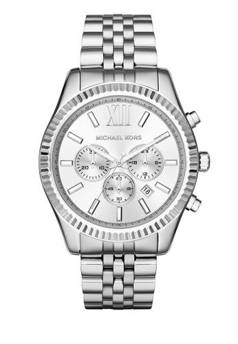 MICHAEL KORS silver Lexington Chronograph Watch MI248AC0K94QPH_1