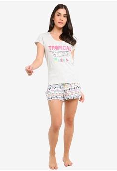 37% OFF OVS Cotton And Viscose Pyjamas Set HK  169.00 NOW HK  106.90 Sizes  S M L XL XXL. OVS black Top And Bottom Printed Pyjama Set FC743AA13A369FGS 1 8051fc48c