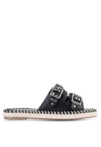 Something Borrowed black Studded Espadrille Slide Sandals 69835SH5EDFCB2GS_1