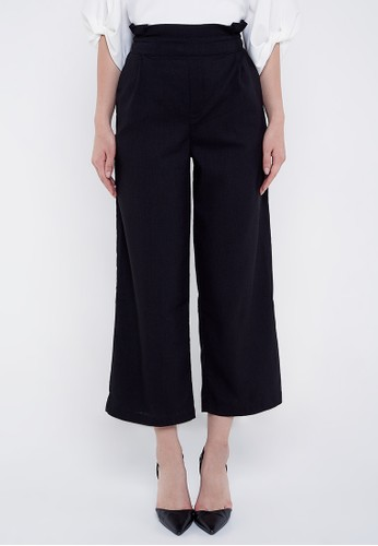 Neumor black Wide Leg Pants DD437AA3918B6BGS_1