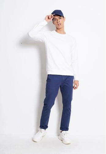 Hi Style white Plain Long Sleeve Sweatshirt 5748AAAFE18017GS_1
