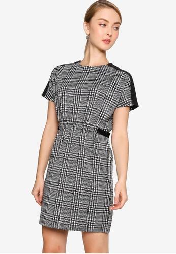ZALORA WORK multi Drawstring Contrast Panel Dress 29287AA30CFEBBGS_1