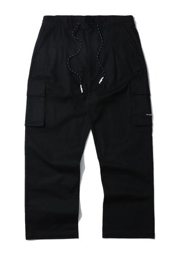 Fivecm black Drawstring cargo pants 6CC10AA96BA993GS_1