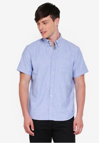 GAP blue Basic Oxford Shirt 51B65AA037484FGS_1