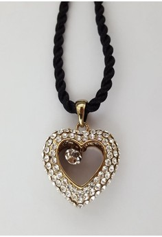Clique Studded Heart With Crystal Charm Center 2015 Graduation Prom Day Sale