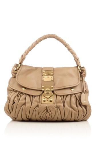 MIU MIU brown Preloved Brown Leather Coffer Bag 1F17CACF47B948GS_1