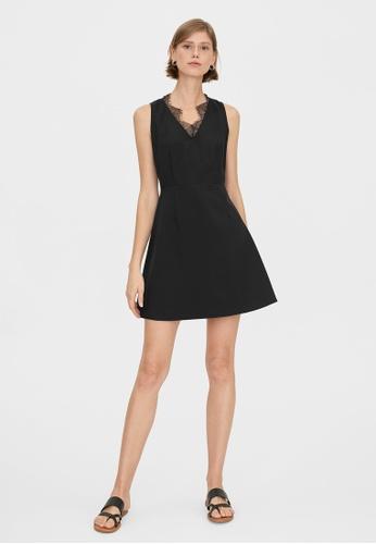 Pomelo black Lace Accent A Line Dress - Black 0D780AAA758631GS_1