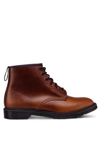 Dr. Martens brown Core Originals Ambrose 6 Eye Boots A4AF3SH9DA4ED5GS_1