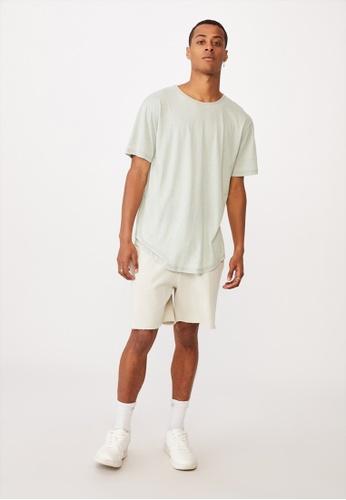 Cotton On green Longline Scoop Burnout T-Shirt 02DEDAA377A8DFGS_1