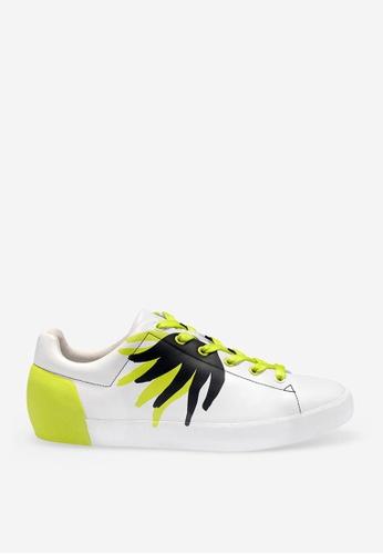 ASH white ASH Nikko Flame Sneakers - White 8BF06SHAA8C283GS_1