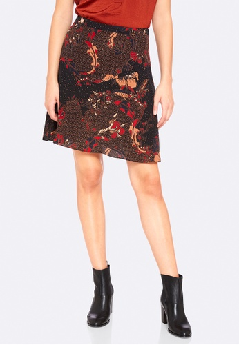 Oxford black and red Matteo Printed Skirt 906F0AA9218CE3GS_1