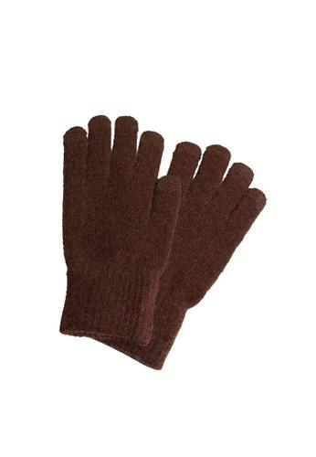 MANGO Man orange Touchscreen Knitted Gloves 47AA8AC37FCD55GS_1