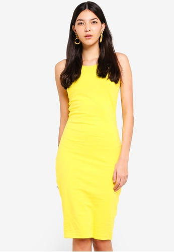 Supre yellow Sleeveless Midi Dress 23F01AAF51C2F7GS_1