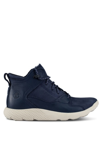 Timberland navy Fly Roam Leather Hiker Sneakers TI063SH0RX4MMY_1