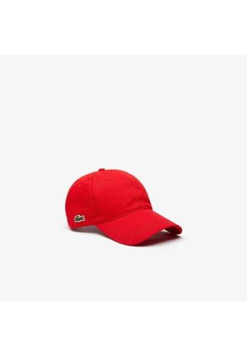 Lacoste red Lacoste Men's Contrast Strap Cotton Cap CB3D7AC055E30DGS_1