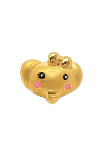 LITZ gold [Free Bracelet] LITZ 999 (24K) Gold Elephant Charm 小象 EPC0459 (0.60g) F45A0ACC7901D8GS_1