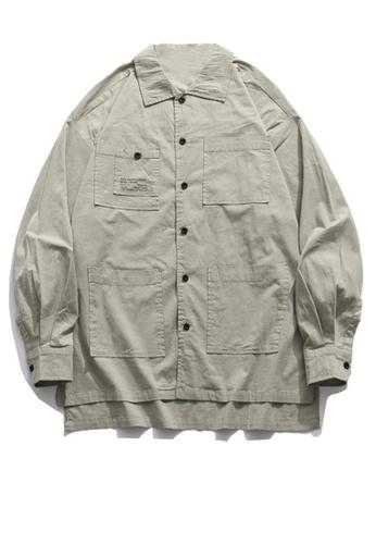 Twenty Eight Shoes Loose-Fitting Pockets Long Shirt HH0897 4F89EAA8B56EF5GS_1