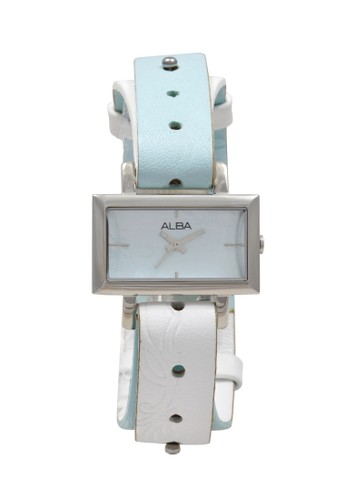 Alba white and blue ALBA Jam Tangan Wanita - Blue White Silver - Stainless Steel - AC3S57 36C58AC11CFDD4GS_1
