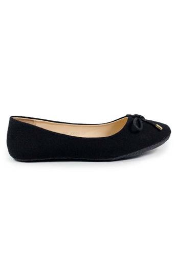 BNC black Flat Ballerina 019B4SH4C45148GS_1