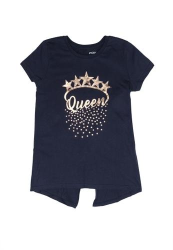 FOX Kids & Baby navy Kids Girl Short Sleeve Tee DDED6KA0350A0FGS_1